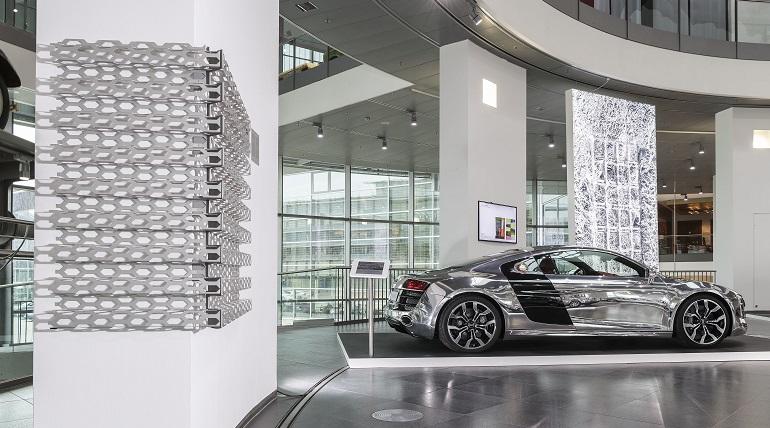 Aluminium Ausstellung Audi